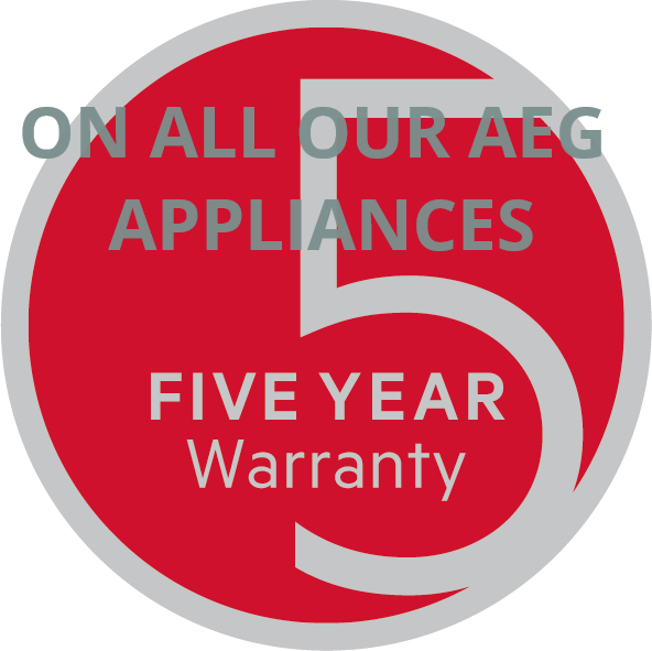 The AEG five year warranty seal